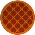 rug #122217 | round red-orange borders rug