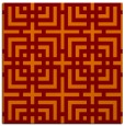 rug #1222207 | square orange check rug