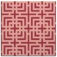rug #1222231 | square pink check rug
