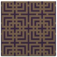 rug #1222247 | square mid-brown check rug
