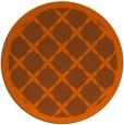 rug #122225   round red-orange traditional rug