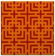 rug #1222259   square orange check rug