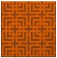 rug #1222279 | square red-orange check rug