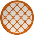 rug #122229 | round red-orange rug