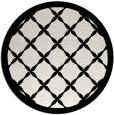 rug #122233 | round white geometry rug