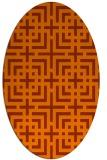 rug #1222365 | oval check rug