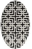 rug #1222367   oval white check rug