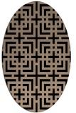 rug #1222375 | oval beige check rug