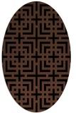 rug #1222379   oval brown check rug