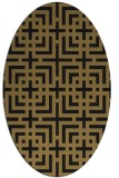 rug #1222391   oval brown check rug