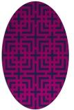 rug #1222399 | oval blue check rug