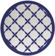rug #122241 | round white geometry rug
