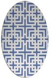 rug #1222411 | oval blue check rug