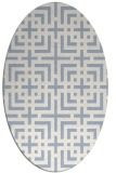 rug #1222413 | oval check rug