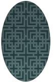 rug #1222436 | oval check rug