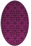 rug #1222445 | oval check rug