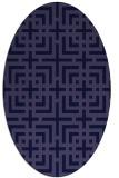 rug #1222447 | oval blue-violet check rug
