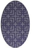 rug #1222451 | oval blue-violet check rug