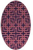 rug #1222455 | oval blue-violet check rug