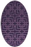 rug #1222459 | oval blue-violet check rug