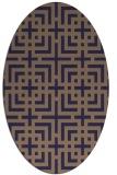 rug #1222467 | oval blue-violet check rug