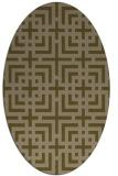 rug #1222475   oval brown check rug