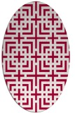 rug #1222479 | oval red check rug