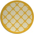rug #122249 | round yellow traditional rug