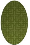rug #1222492 | oval check rug