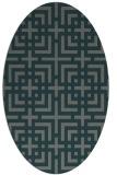 rug #1222495   oval check rug