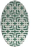 rug #1222499 | oval blue-green rug
