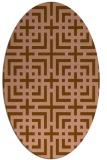 rug #1222518 | oval geometry rug