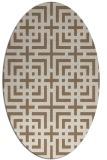 rug #1222523 | oval beige check rug