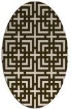 rug #1222526 | oval geometry rug