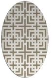 rug #1222527 | oval white check rug
