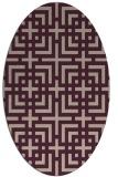 rug #1222539 | oval check rug