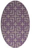 rug #1222551 | oval purple check rug