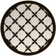 rug #122257   round brown borders rug
