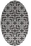 rug #1222587 | oval red-orange check rug