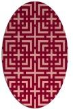 rug #1222602 | oval check rug