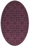 rug #1222607 | oval purple check rug