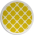rug #122261 | round yellow borders rug