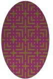 rug #1222614 | oval check rug