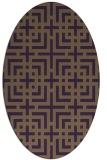 rug #1222615 | oval purple check rug