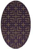 rug #1222616 | oval check rug