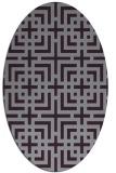 rug #1222619 | oval purple check rug