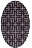 rug #1222620 | oval check rug