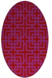 rug #1222635 | oval red check rug