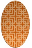 rug #1222643 | oval red-orange check rug
