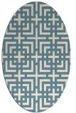rug #1222675 | oval white check rug